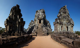 Ta Phrom temple in top Royalty Free Stock Images