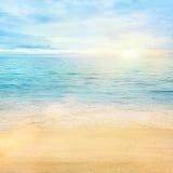 tła piaska morze Zdjęcia Royalty Free