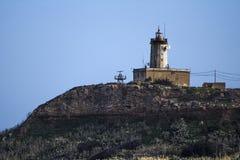 从ta Pinu戈佐岛的灯塔 免版税图库摄影