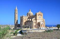 Ta Pinu教会在戈佐-马耳他 免版税库存图片