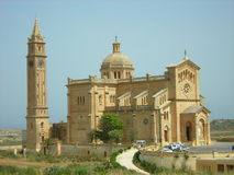 Ta Pinu Basilica, Gozo, Malta. Exterior of Ta Pinu Basilica - a Roman Catholic basilica located close to the village of Gharb on the island of Gozo and one of Stock Photography