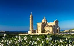 Ta` Pinu Cathedral of Gozo, Malta. Ta` Pinu Cathedral at Gharb, Gozo, Malta Stock Images