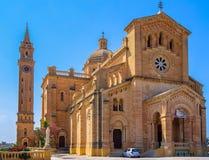 Ta Pinu Church. The basilica of the Virgin Of Ta' Pinu near the village of Gharb in Gozo Royalty Free Stock Image
