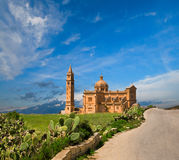Ta' Pinu Church, Gharb village, Gozo, Malta. Ta' Pinu Church in willage Gharb, Gozo island, Malta Stock Images