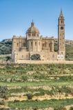 Ta' Pinu church near Gharb in Gozo, Malta. The National Shrine of the Blessed Virgin of Ta' Pinu, parish church and minor basilica located near Gharb on the Royalty Free Stock Photo