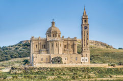Ta' Pinu church near Gharb in Gozo, Malta. The National Shrine of the Blessed Virgin of Ta' Pinu, parish church and minor basilica located near Gharb on the Royalty Free Stock Photography