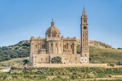 Ta' Pinu church near Gharb in Gozo, Malta Royalty Free Stock Photography