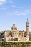 Ta' Pinu church near Gharb in Gozo, Malta. The National Shrine of the Blessed Virgin of Ta' Pinu, parish church and minor basilica located near Gharb on the Stock Photos