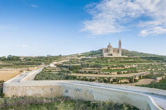 Ta' Pinu church near Gharb in Gozo, Malta Royalty Free Stock Photo