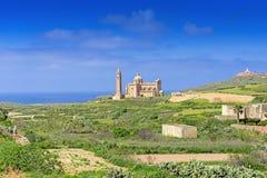 Ta Pinu Church in village Gharb Gozo island general view Royalty Free Stock Photography