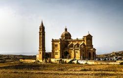 Ta Pinu Sanctuary, Gharb, Malta. Exterior view to Ta Pinu Sanctuary, Gharb, Malta Stock Photos