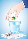 Ta preventivpilleren för pajdiagram Royaltyfri Foto