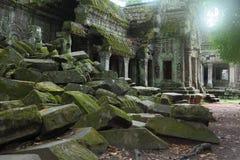 Ta Prohm寺庙在吴哥窟 免版税库存图片