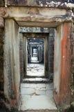 Ta Prohm寺庙废墟在吴哥窟暹粒,柬埔寨, 12世纪 库存图片