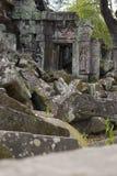 Ta Prohm świątyni gruz obraz stock