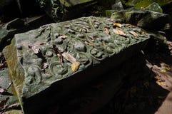 TA Prohm, μέρος του Khmer ναού σύνθετο, Ασία η Καμπότζη συγκεντρώνει siem Αρχαία Khmer αρχιτεκτονική στη ζούγκλα Στοκ Εικόνα