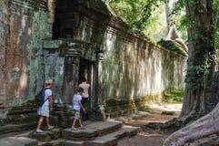 TA Prohm, μέρος του Khmer ναού σύνθετο, Ασία η Καμπότζη συγκεντρώνει siem Αρχαία Khmer αρχιτεκτονική στη ζούγκλα Στοκ εικόνα με δικαίωμα ελεύθερης χρήσης