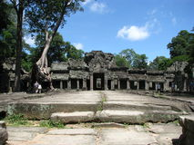 Ta Prohm. Photo of the front of the Ta Proh temple near siem reap, cambodia Royalty Free Stock Image