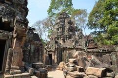 Ta Prohm ancient temple Angkor Wat Cambodia Royalty Free Stock Photography