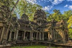 Ta Prohm, część Khmer świątynny kompleks, Azja Siem Przeprowadza żniwa, Cambodi Obrazy Royalty Free