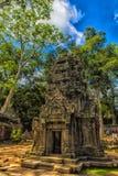 Ta Prohm, część Khmer świątynny kompleks, Azja Siem Przeprowadza żniwa, Cambodi Zdjęcie Stock