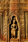 Ta Prohm. Is the modern name of the temple at Angkor, Siem Reap Province, Cambodia, built in the Bayon style largely in the late 12th and early 13th centuries Stock Images