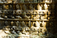 Ta Prohm. Is the modern name of the temple at Angkor, Siem Reap Province, Cambodia, built in the Bayon style largely in the late 12th and early 13th centuries Stock Photography