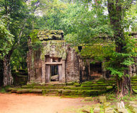 Ta Prohm, part of ancient  Khmer temple complex in jungle. Stock Images