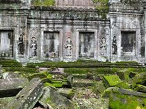 Ta Prohm (Rajavihara), a temple at Angkor, Province, Cambodia. stock photography