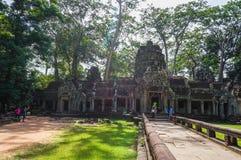 Ta Prohm, Teil des Khmertempelkomplexes, Asien Stadtzentrum von Siem Reap, Kambodscha Alte Khmerarchitektur im Dschungel Stockbilder