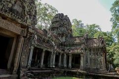 Ta Prohm, Teil des Khmertempelkomplexes, Asien Stadtzentrum von Siem Reap, Kambodscha Alte Khmerarchitektur im Dschungel Stockfotos