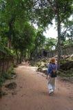 Ta Prohm, Teil des Khmertempelkomplexes, Asien Stadtzentrum von Siem Reap, Kambodscha Alte Khmerarchitektur im Dschungel Stockfoto