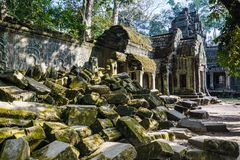 Ta Prohm temple, Cambodia stock photography