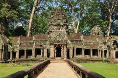 Ta Prohm temple in Siem Reap Royalty Free Stock Photography
