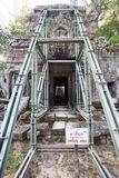 Ta Prohm temple unsafe Royalty Free Stock Photo