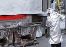 Ta prov aluminiumflytande royaltyfria bilder