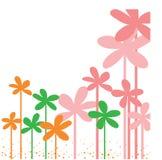 Ta prov din text här card med den färgrika blomman i ram Fotografering för Bildbyråer