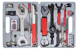 tła pudełka zakończenie odizolowywający narzędzie w górę biel Fotografia Stock