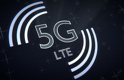 5ta red del móvil de la generación stock de ilustración