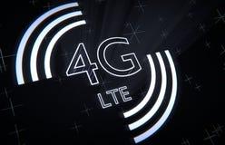 4ta red del móvil de la generación stock de ilustración