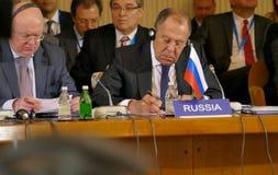 35ta reunión del Consejo de Ministros de los asuntos exteriores de la organización del Estado miembro de la cooperación económica Imagen de archivo libre de regalías