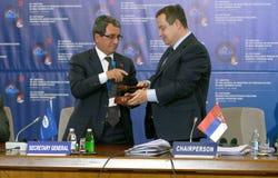 35ta reunión del Consejo de Ministros de los asuntos exteriores de la organización del Estado miembro de la cooperación económica Fotos de archivo