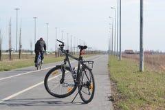 tła rower odizolowywający nad sporta biel Zdjęcie Royalty Free