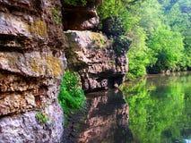 Żółta rzeka w Krape parku Illinois Fotografia Royalty Free