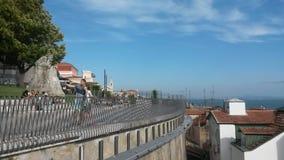 Ta selfies i Lissabon Royaltyfria Foton