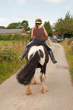 Ta sig en tupplur ponny Royaltyfria Foton