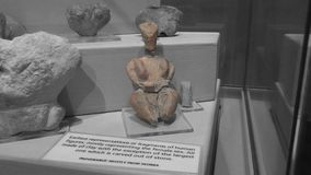 Ta Skorba świątynia | bogini figurka fotografia stock
