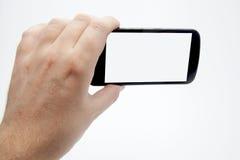 Ta smartphonefoto Arkivfoton