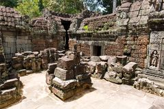 Ta Som temple. This is the Ta Som temple. This temple is like Ta Prohm so much. This temple also resides in the jungle. The small building piled in the yard is Royalty Free Stock Image