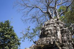 Ta-somen Angkor Wat Siem Reap Cambodia South East Asia är en liten tempel på Angkor, Cambodja som byggs på slutet av det 12th årh Royaltyfri Fotografi